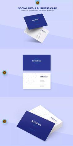 Digital Marketing Business Card Template AI Unlimiteddownloads - Business card template ai