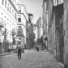 Street view, by Nicholas V. Artamonoff, not dated. Historical Pictures, Istanbul Turkey, Old Pictures, Once Upon A Time, Past, Places To Visit, Street View, History, World