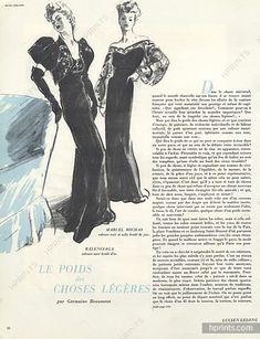 Balenciaga & Marcel Rochas 1942 Evening Gown, Etienne Drian