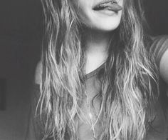 #wavy #hair #black #white #smile #girl #long #hair