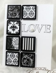 This would be a great way to use scrap papers ... black n white is an awesome contrast ... maybe even use embossing powder with stamps ...