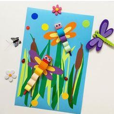 Crafts for kids Animal Crafts For Kids, Spring Crafts For Kids, Autumn Crafts, Craft Projects For Kids, Paper Crafts For Kids, Arts And Crafts, Bug Crafts, Preschool Crafts, Easy Crafts