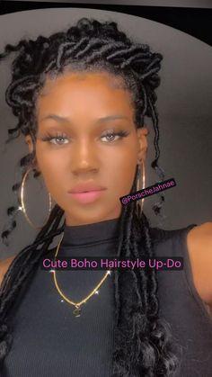 Bride Hairstyles, Summer Hairstyles, Easy Hairstyles, Braided Hairstyles For Black Women, Braids For Black Hair, Faux Locs Styles, Medieval Hairstyles, Extreme Hair Growth, Elegant Updo