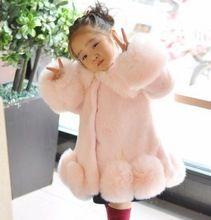 NEW FASHION CHILDREN WINTER COAT GIRL FAUX MINK FUR COAT FOX FUR COAT THICK WARM OVERCOAT FOR GIRL(China (Mainland))