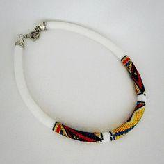 crochet necklace  bead crochet rope  by elegantaccessoryshop #beadcrochetrope