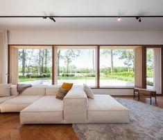 houten visgraat vloer, mooie bank