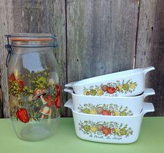 Vintage Spice o Life Collection / Corningware / 2 1 by MelbaMoon, $28.00