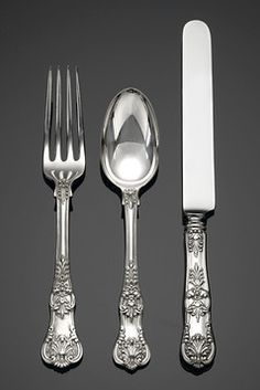 Antique Tiffany Silver, Antique American Silver Flatware, English King Flatware ~ M.S. Rau Antiques