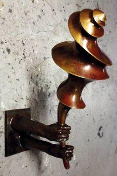 """Saatchi Art Artist Jaco van der Vaart; Sculpture, """"Torch"""" #art"""
