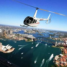 Sydney harbour helicopter view