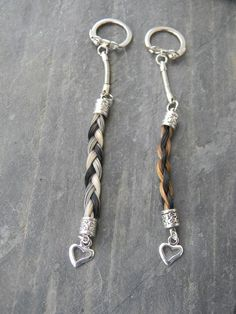 HORSE HAIR Key Chains by BarringtonJewelry on Etsy, $12.00