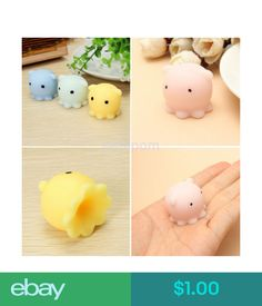 Beautiful Kawaii Mini Bunny Bag Accessories Squeeze Stretchy Cute Pendant Bread Cake Kids Toy Gift 1 Pcs Octopus Slow Rising Jade White Luggage & Bags