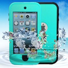 iPod Touch 5 Waterproof Case KINGCOOL(TM) Waterproof Shockproof Dirt Proof Snow Proof Heavy Duty Full Body Armor Defender Protective Case Cover for Apple iPod Touch Green) Specially design for (Tech Accessories Jade) Cute Ipod Cases, Ipod Touch Cases, Bling Phone Cases, Cool Iphone Cases, Ipod Touch 6th, Ipod Touch 5th Generation, Ipod Nano, Protective Cases, Mint Green