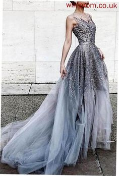 Plus Size Prom Dress, Gray tulle sequins round neck see-through long prom dress,train dresses Shop plus-sized prom dresses for curvy figures and plus-size party dresses. Ball gowns for prom in plus sizes and short plus-sized prom dresses Prom Dresses 2018, Tulle Prom Dress, Dress Up, Wedding Dresses, Tulle Wedding, Party Dress, Sequin Wedding, Prom Gowns, Buy Dress