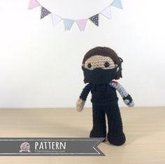 Winter Soldier Bucky Barnes Amigurumi Crochet Doll Pattern