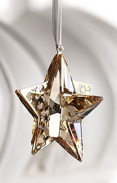 Swarovski Holiday Star Ornament, Crystal Golden Shadow, 2012