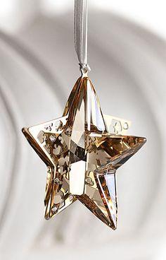 Swarovski vacaciones ornamento de la estrella, Crystal Golden Shadow, 2012
