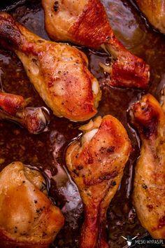 Pałki z kurczaka w miodzie i sosie sojowym. Nawet dziecko potrafiłoby je zrobić! #obiad #kolacja