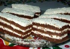 Kókuszos krémes, kakaós sütemény Paleo, Hungarian Recipes, Cake Cookies, Tiramisu, Deserts, Frozen, Food And Drink, Cooking Recipes, Sweets