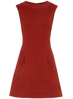 Brick curve pocket shift dress - Jackie O?