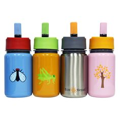Feeding :: Bottles & Sippy Cups :: Scout Stainless Straw Top - Growing Green Baby