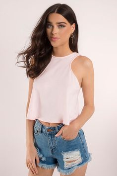 Crop Top Outfits, New Outfits, Fashion Outfits, Summer Outfits, Women's Fashion, Cheap Crop Tops, Basic Crop Top, Lover Dress, Nautical Tops