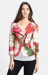 Ted Baker London 'Rose on Canvas' Double Breasted Print Jacket