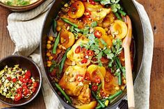 Slow-cooker chicken, apricot and chickpea tagine