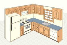 9 x 10 kitchen design - Google Search