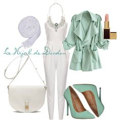 Green and White Hijab Outfit by le-hijab-de-doudou on Polyvore featuring Office, Mulberry and Tom Ford