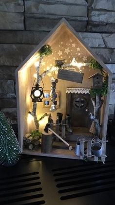 Wichtel door and accessories - piedra.ch - Wichtel door and accessories – piedra. Christmas Crafts, Christmas Decorations, Xmas, Diy For Kids, Crafts For Kids, Creation Deco, Fairy Doors, Box Art, Diy Gifts