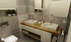 Znalezione obrazy dla zapytania łazienka styl skandynawski dwie umywalki