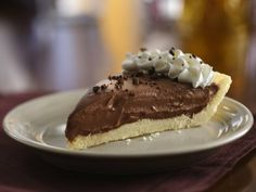 Creamy Chocolate Pie (Gluten-free)