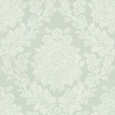 Roselle Damask (68715) - Albany Wallpapers - A delicate mid-scale all over damask. Shown here in teal and white. Other colourways are available. Please request a sample for a true colour match. Paste-the-wall product.
