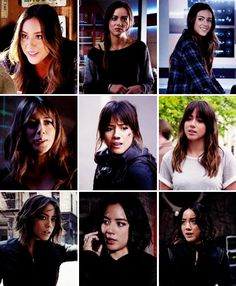 "Daisy ""Skye"" Johnson's hair evolution (1x01 - 3x10) #Marvel Agents of S.H.I.E.L.D. #AoS #AgentsofSHIELD"