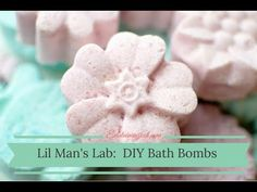Lil Man's Lab:  DIY Bath Bombs  Have you ever wondered what makes bath bombs fizz?  Interested in making your own inexpensive bath bombs?  This little scientist shows you just how easy it is to make your own in this easy DIY bath bomb tutorial for kids!  Ingredients: 1 cup baking soda 1/2 cup citric acid 1/2 cup epsom salts 2.5 tablespoons olive oil 1 tablespoon water 1/2 cup corn starch 5-10 drops essential oil 3-5 drops dye *biodegradable glitter (optional)
