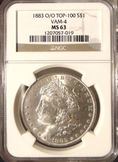 1883 O Silver Morgan Dollar NGC MS 63 Vam 4 O/O Mint Error Rare Coin Top 100