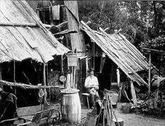 Romsey Australia - Early Settlers Homes and Bush Huts in Australia.