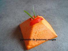 c'est pas d'la tarte ! ~ pyramides de poivrons rouges