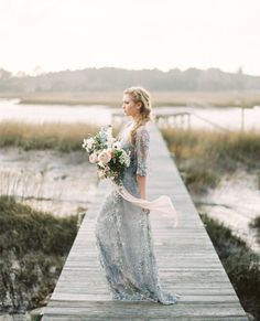 Wonderful Perfect Wedding Dress For The Bride Ideas. Ineffable Perfect Wedding Dress For The Bride Ideas. Perfect Wedding Dress, Boho Wedding Dress, Wedding Gowns, Wedding Dress Not White, Wedding Bride, Wedding Rehearsal, Colored Wedding Dresses, Wedding Colors, Autumn Bride