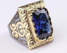 Tanzanite Stone, Tanzanite Ring, Silver Man, Silver Rings, 925 Silver, Silver Jewelry, Sterling Silver, Mens Emerald Rings, Jewelry Gifts