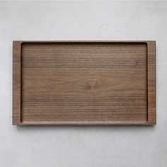 Tatsuya Aida | Walnut Tray (Long) - Analogue Life Wooden Serving Trays, Wooden Plates, Serving Board, Cooking Spoon, Shape And Form, Interior Accessories, Wood Pallets, Wood Carving, Home Projects