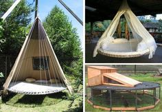 What to do with an old trampoline.    Source: https://www.facebook.com/photo.php?fbid=480094672052400=a.130380813690456.19110.108661105862427=1