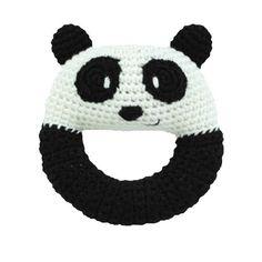 Panda Knit Rattle. #oompatoys