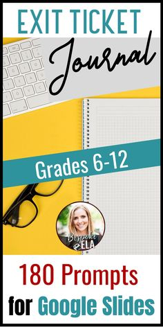 This Exit Ticket Journal Bundle for Google Slides contains 180 exit ticket prompts for any content area in secondary grades 6-12.... perfect to navigate distance learning or remote teaching in middle school or high school in order to assess learning and comprehension. #exittickets #journal #secondaryELA #growthmindset #distancelearning #remoteteaching #elearning #bellringers High School Students, School Fun, Middle School, School Stuff, School Ideas, Teacher Tools, Teacher Stuff, Rhetorical Device, Teaching Writing