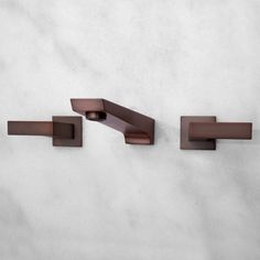 $170 Cheval Wall Mount Lavatory Faucet with Lever Handles - Oil Rubbed Bronze