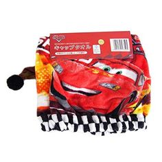 Japan Disney Pixar Official Cars 2  Lightning McQueen Soft Red Cotton Dry Hair Cap Womens Beanie Style Elastic Rubber Band Shower Hat Bath Spa Quick Drying Absorbent Lady Waterproof Head Wrap Twist *** Details can be found by clicking on the image.