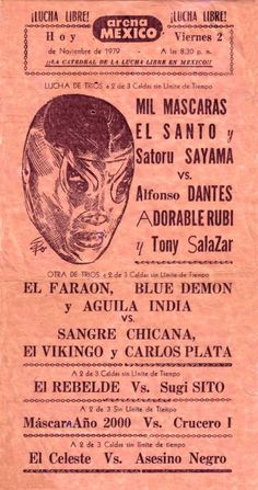Classic Lucha w/ Satoru Sayama Pre - Tiger Mask. Dancer Drawing, Mexican Wrestler, Wrestling Posters, Tiger Mask, The Sporting Life, Super Snake, Mexico Art, Typography Layout, Vintage Box