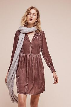 Nantes Velvet Shirt Dress. It's no secret that velvet is the material of A/W16 and this gorgeous mauve shirt dress is everything we could want for our new wardrobes