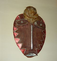 Wiccan Feathered handmade Wall Mask to Ward off Evil Spirits